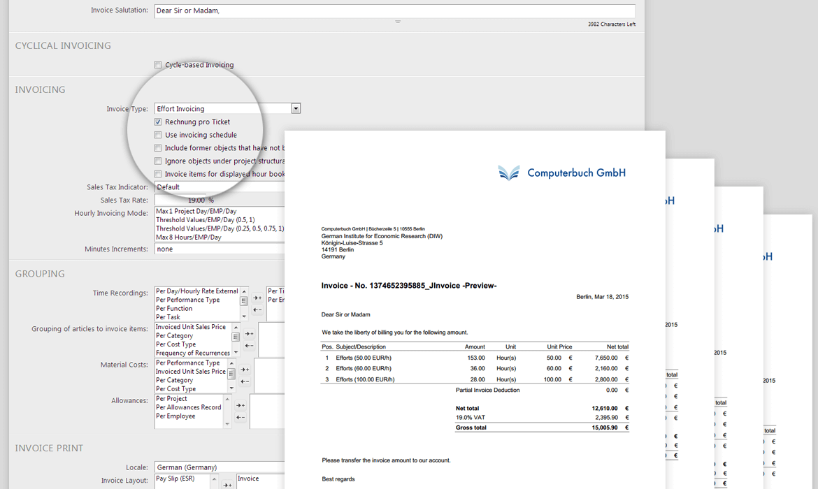 Billable: Tickets in the invoice generator